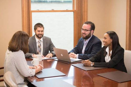 administrators at a conference table