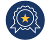 Ribbon Icon: Illustration of a first place ribbon with a gold star in the middle representing UNR's status as a top public research university