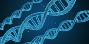 Blue DNA strings