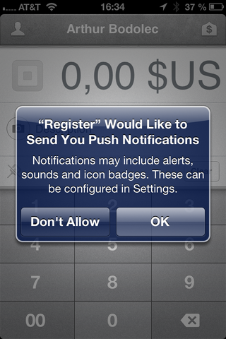 Push Notification Request
