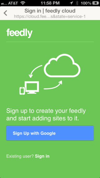 Feedly login