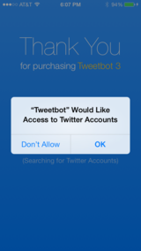 Twitter authorization