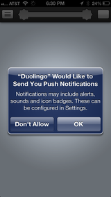 Notification request