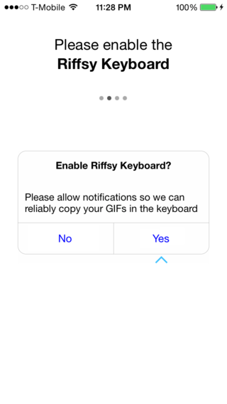 Enable keyboard