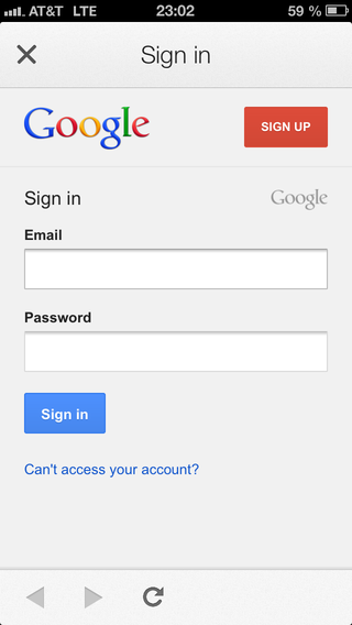 Google Sign in