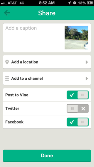 Vine options