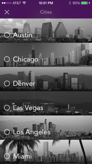Cities list
