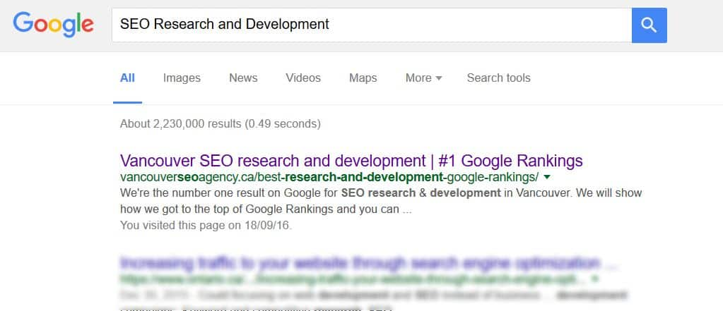 SEO Research and Development