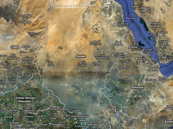 Map Of Sudan North And South. As South Sudan secedes from