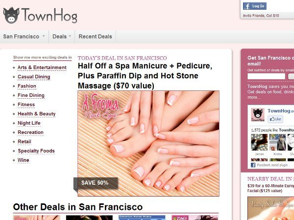 Townhog daily deals