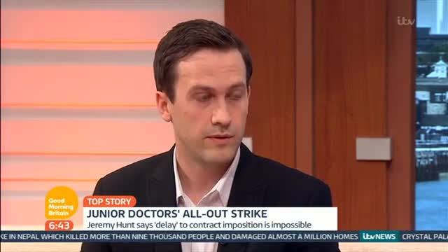 Junior Doctor Quits On Good Morning Britain