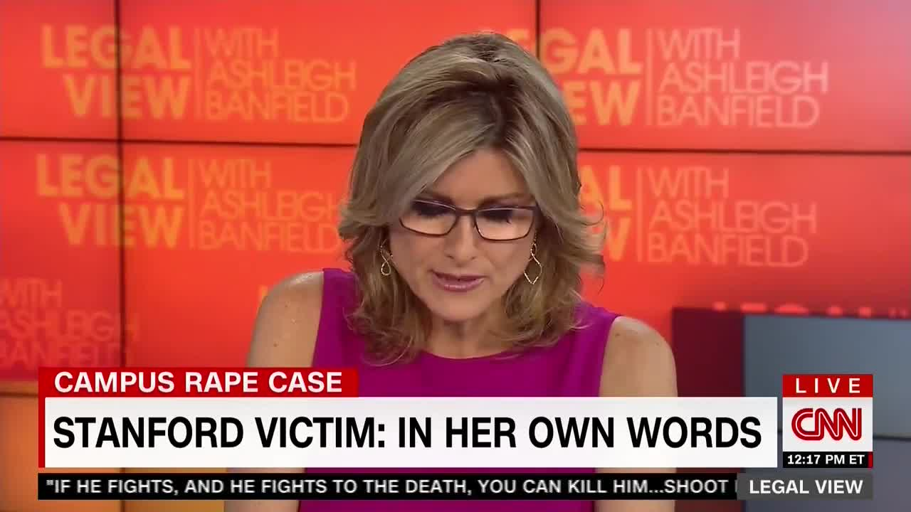 CNN's Ashleigh Banfield Reads Stanford Rape Victim's Letter On Air