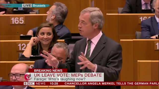 Nigel Farage Gives Speech To The European Parliament