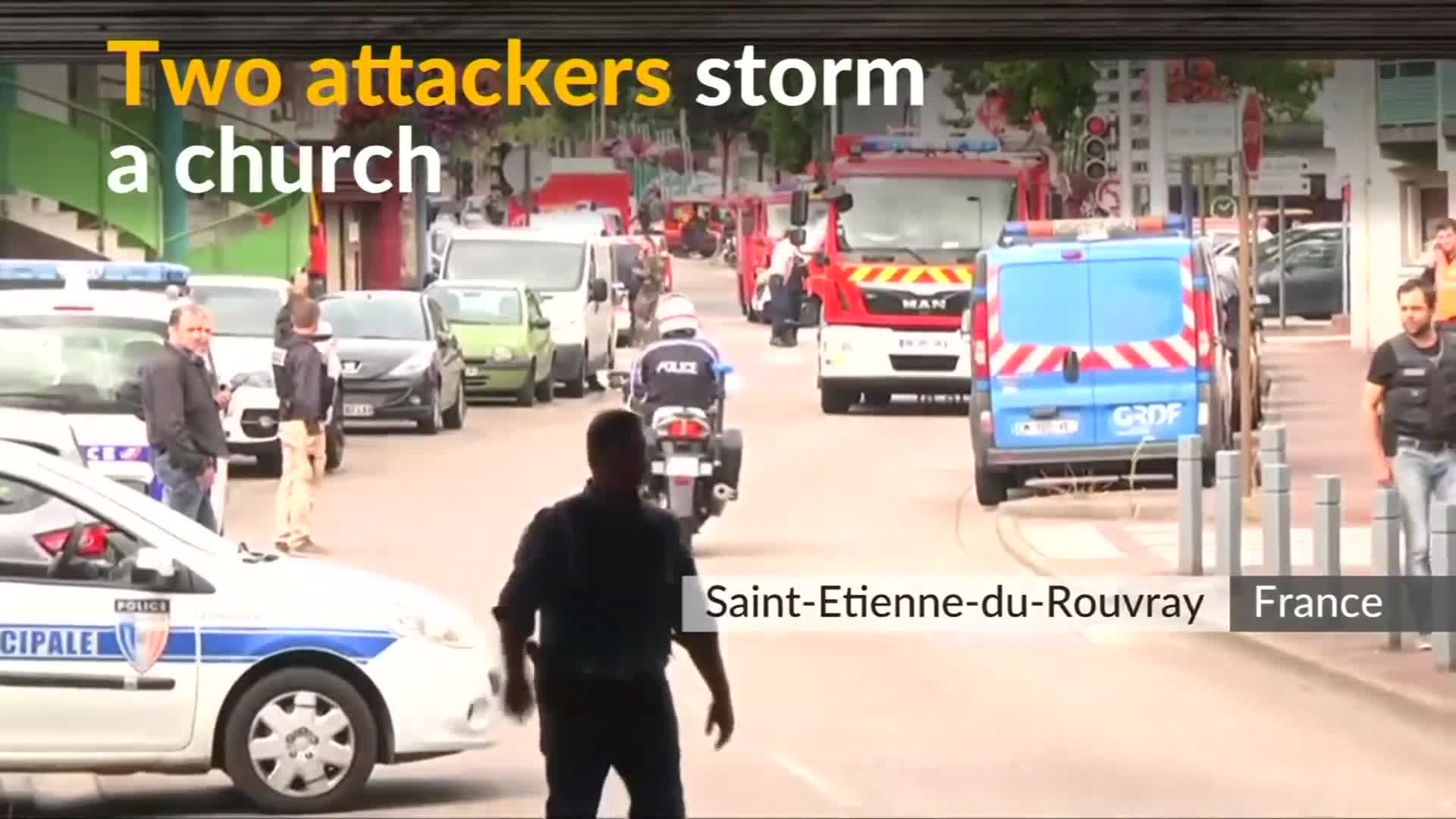 Two attackers kill priest in French church