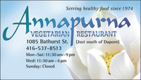 Annapurna Vegetarian Restaurant