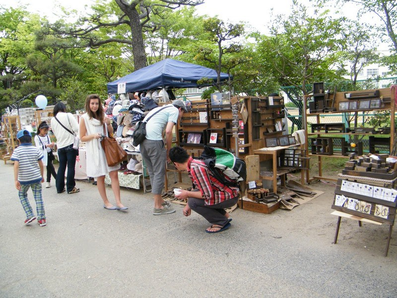 Hanazono shrine flea market