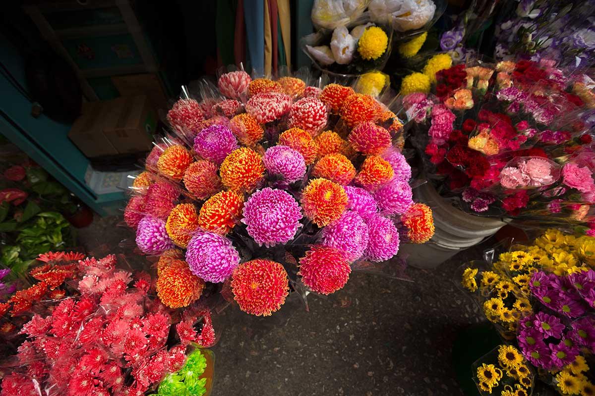 Pak khlong talat flower market bangkok thailand 1