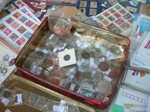 Coins and stamps flea market madrid