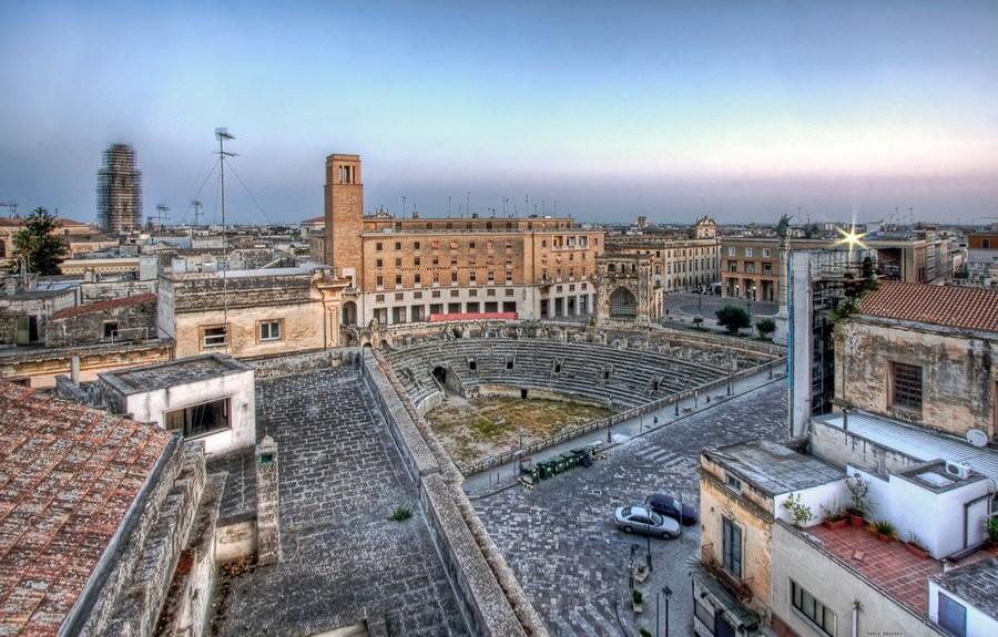 Lecce flea market italy