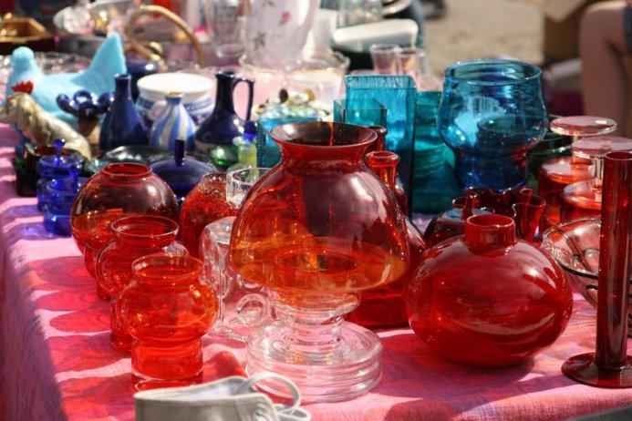 Magnus franklin helsinki hietalahdintori flea market multicoloured glassware