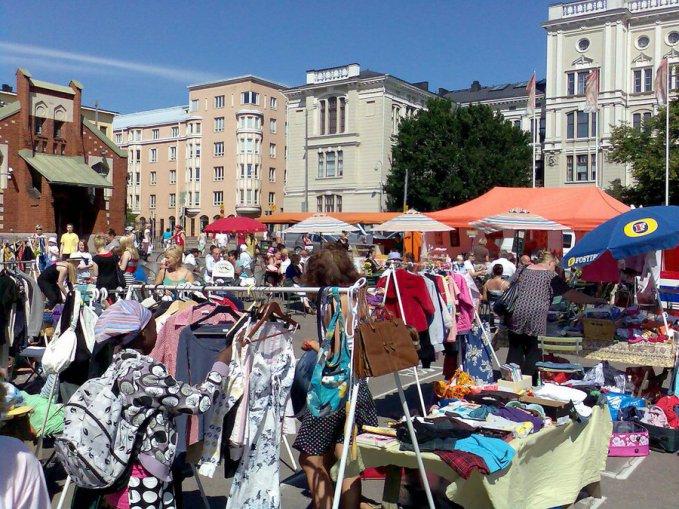 Irmeli aro flea market at hietalahti