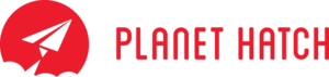 Planethatch logo horizontal red