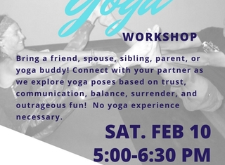 Turquoise Blue Yoga Fitness Flyer