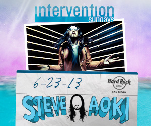 Steve Aoki at Intervention Sundays | June 23, 2013 | DJhere Productions