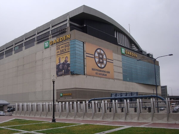 TD Garden, home of the Boston Bruins