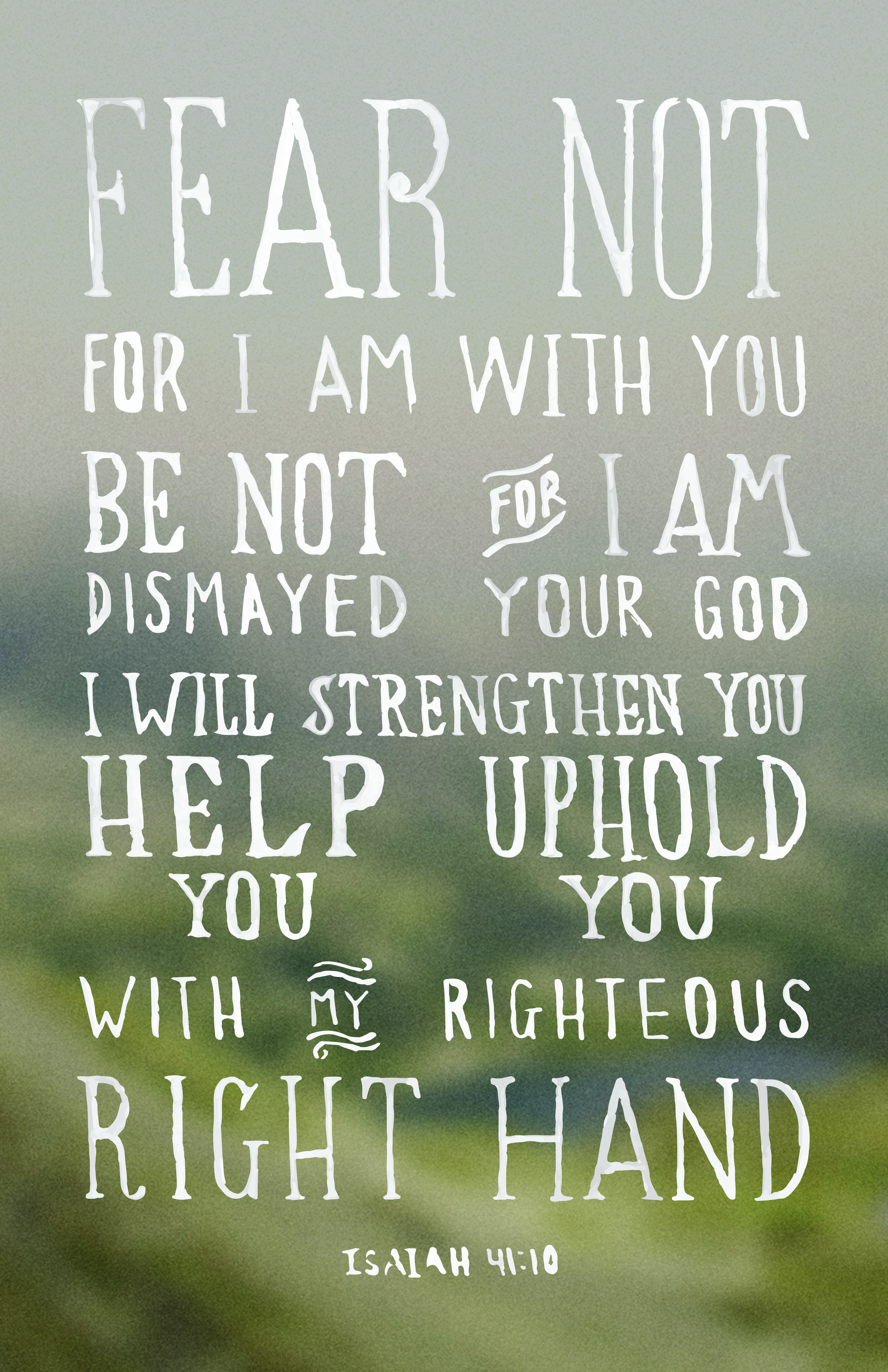 Isaiah 41 10 Iphone Wallpaper