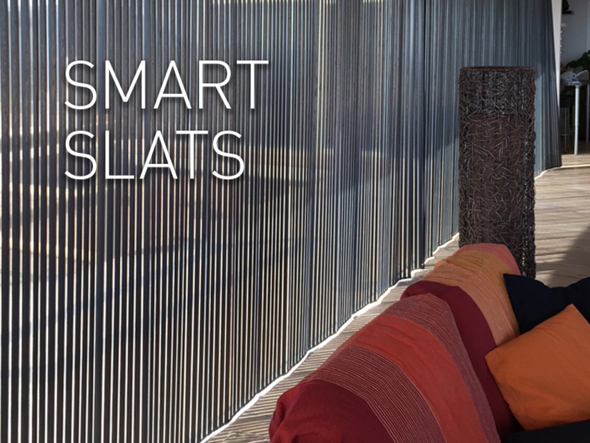 Smart Slats: an expression of art and design.