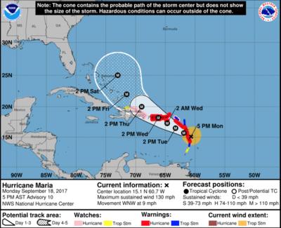 Update: Verticolor, Puerto Rico closed until Monday Sept. 25th