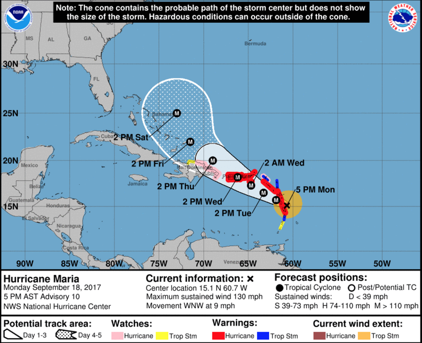 Update: Verticolor, Puerto Rico closed until Monday Sept. 25th