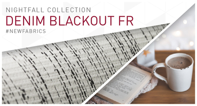 Introducing a new fabric: Denim Blackout FR