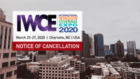 Notice of Cancellation - IWCE Expo 2020