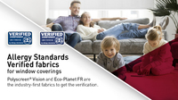 Allergy Standards Verified fabrics for window coverings
