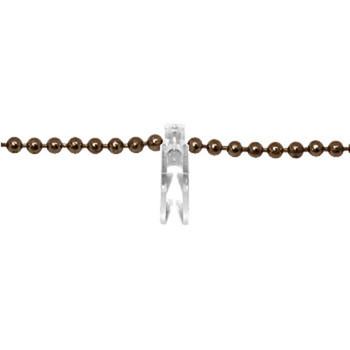 0-030-CH-01300 | Brass Chain & Clip Clear Clip