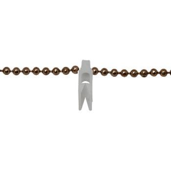 0-030-CH-01400 | Brass Chain & White Clip