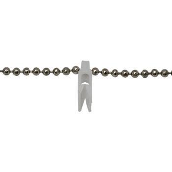 0-030-CH-01600 | Steel Chain & Clip White Clip