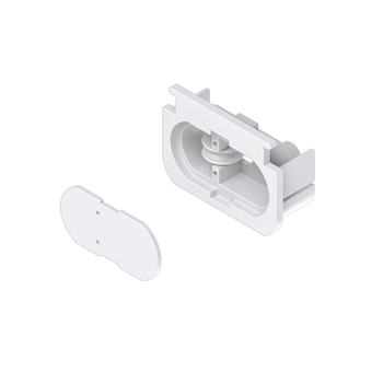 0-031-P1-00260 | MATRIX Idle End Cap for Rounded Track - White