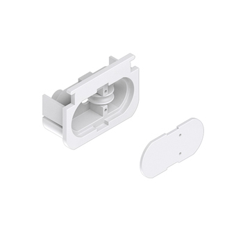 0-031-P1-002X0 | MATRIX Idle End Cap for Rounded Track - White