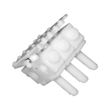0-032-CA-02100 | 3 Prong Plastic Carrier Heavy Duty