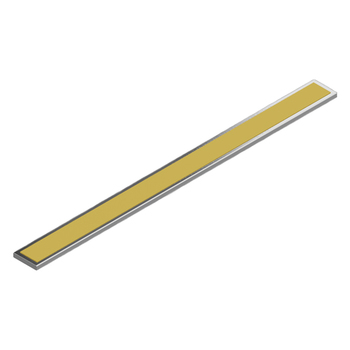 "0-110-P0-11000 | Metal Weight Bar with Adhesive Tape 8"" (20.32 cm)"