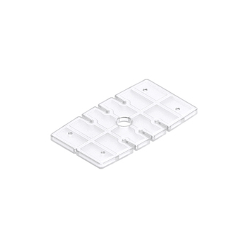 0-112-04-11000 | Bottom Rail Plastic Base for Cord Retainer Button - Clear