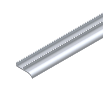 "0-112-04-12200 | Aluminum Reducer profile from 1½"" (38mm) to 1"" (25mm) 16' Mill Finish"