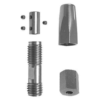 0-140-04-01515 | Stainless Steel 5mm Cable Fastener - Floor Set = 4 pieces + set Hex screws