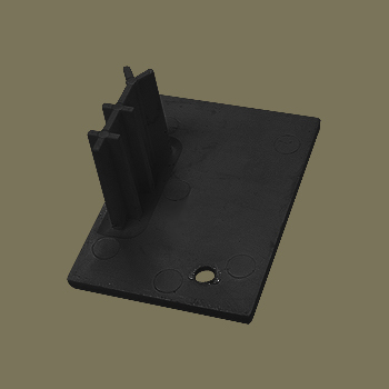 0-140-05-C50LX | Bottom End Cap Left for 50 mm Side Guide