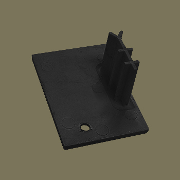 0-140-05-C50RX | Bottom End Cap Right for 50 mm Side Guide