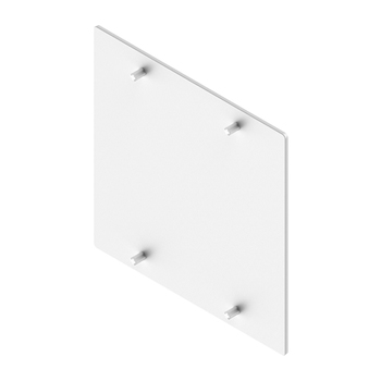 "0-154-CO-4F0WH | Plastic End Cap for 4"" Privacy & Eco Fascias - White"