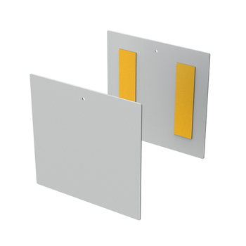 """0-154-CO-561FX   Cover for 3"""" Flat Fascia     Metal     With Tape"""